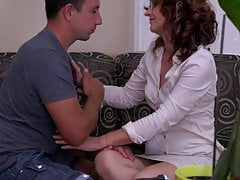 Sensual mother seduce son hungry for sex