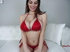 Big oiled tits in bikini JOI