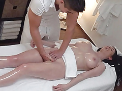 Unexpected Breasts and Pussy Massage