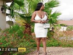 Ebony Milf bbw Layton Bento loves lil white boys with big