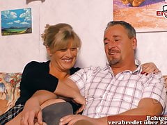 REAL GERMAN HOUSEWIFE AT THREESOME CASTING, MMF