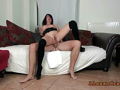 Oops! XXL mega squirt while ass fucking