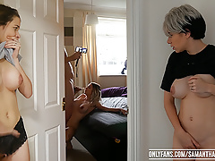 2 triplets watch the other get assfucked! Samantha Flair